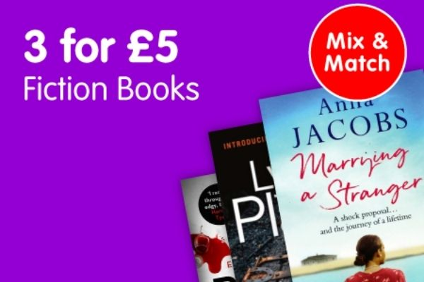3 For £5 Fiction Books At The Works